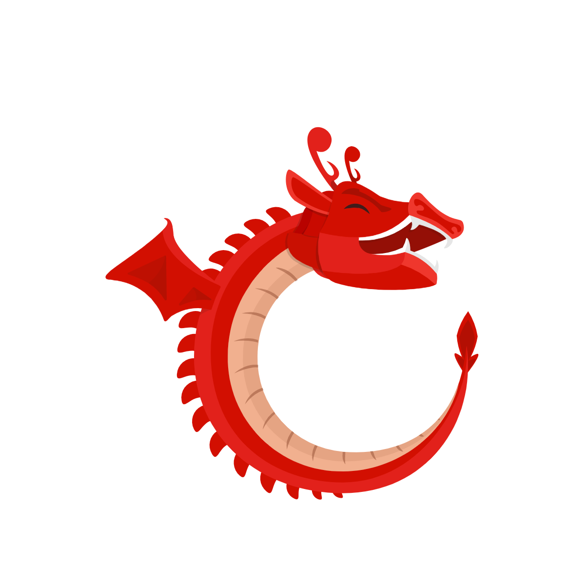 Tanaguru logo is a smilling red dragon