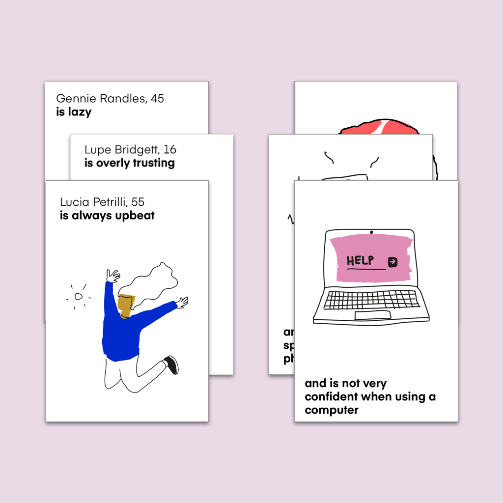 Example of paired cards.