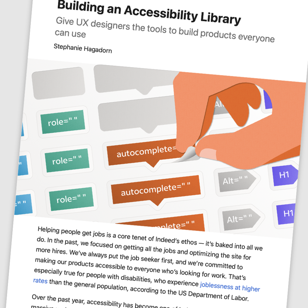"Extract of the original article ""Building an accessibility Library"""